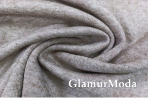 Трикотаж Ангора (евроангора), цвет бежевый меланж