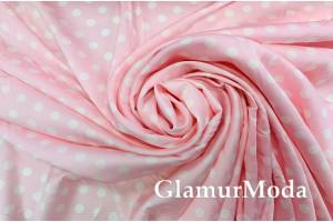 Армани шёлк горох 1см на фоне розовый кварц