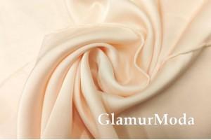 Армани шёлк однотонный персикового цвета