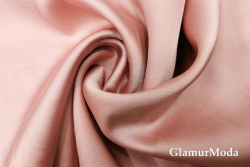 Армани шёлк однотонный цвета пыльная роза