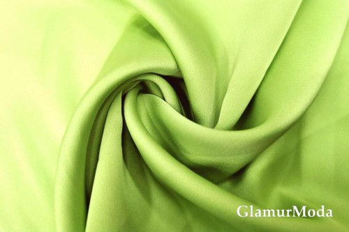 Армани шёлк однотонный салатового цвета