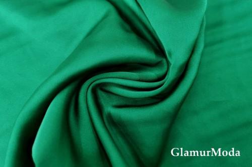 Армани шёлк однотонный зеленого цвета