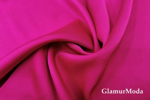 Армани шёлк однотонный цвета фуксия