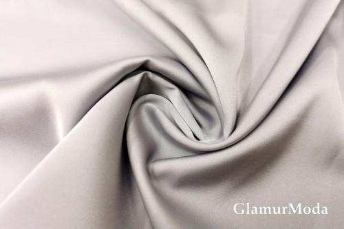 Армани шёлк однотонный серо-сиреневого цвета