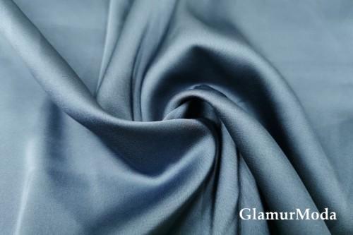 Армани шёлк однотонный цвета индиго