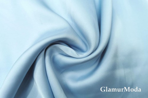 Армани шёлк однотонный нежно-голубого цвета