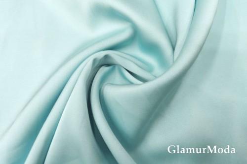 Армани шёлк однотонный цвета аквамарин