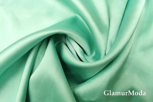Армани шёлк однотонный мятного цвета