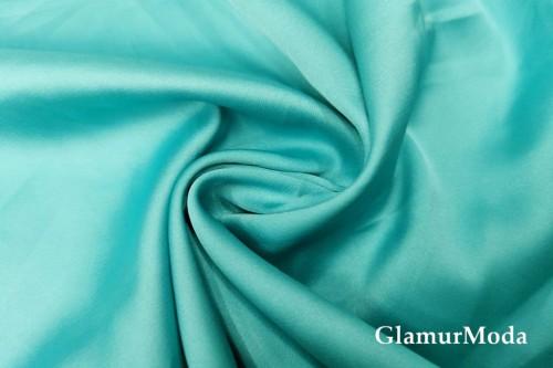 Армани шёлк однотонный цвета морская волна