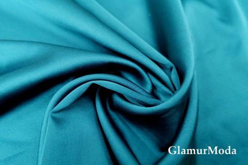 Армани шёлк однотонный сине-бирюзового цвета