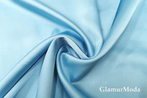 Армани шёлк однотонный небесно-голубого цвета