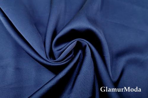 Армани шёлк однотонный темно-синего цвета 19-4111