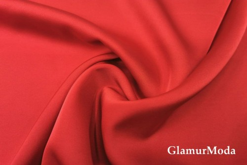 Армани шёлк однотонный красного цвета