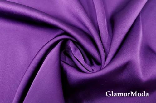 Армани шёлк однотонный темно-сиреневого цвета