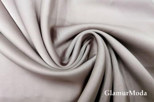 Армани шёлк однотонный цвета черничная пудра