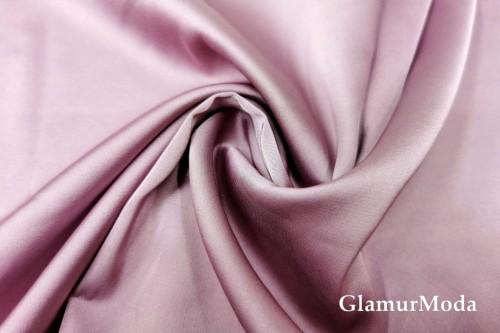Армани шёлк однотонный розово-сиреневого цвета