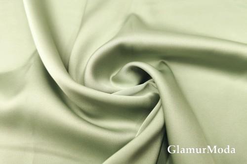 Армани шёлк однотонный цвета шалфей