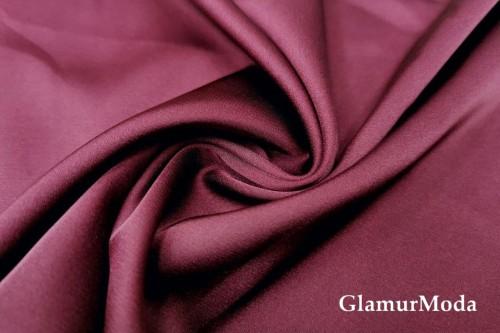Армани шёлк однотонный бордового цвета