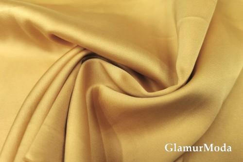Армани шёлк однотонный пшеничного цвета