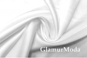 Армани шёлк однотонный белого цвета