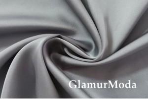 Армани шёлк однотонный серого цвета