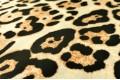 Армани шёлк Леопард на молочном, крупный рисунок
