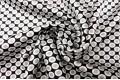 Армани шёлк бело-серые круги на черном фоне