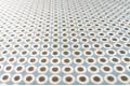 Армани шёлк бело-коричневые круги на голубом фоне