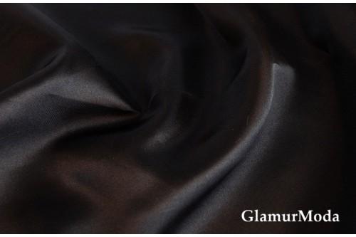 Атлас простой однотонный черного цвета