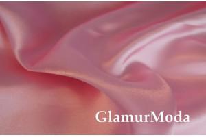 Атлас простой однотонный нежно-розового цвета