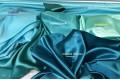 Атлас простой однотонный бирюзового цвета