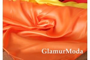 Атлас простой однотонный оранжевого цвета