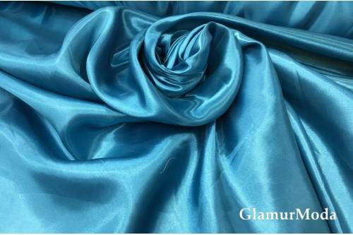 Атлас простой однотонный цвета голубая бирюза