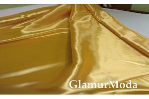 Атлас простой однотонный золотого цвета