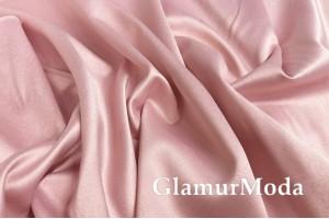 Свадебный сатин с лайкрой (прокатный атлас) цвет лотоса, арт. 11, Турция