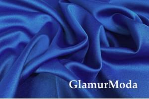 Свадебный сатин с лайкрой (прокатный атлас) синий, арт. 14, Турция