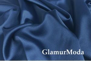 Свадебный сатин с лайкрой (прокатный атлас) голубой пепел, арт. 15, Турция