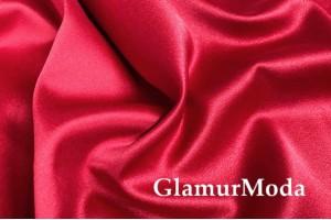 Свадебный сатин с лайкрой (прокатный атлас) красный, арт. 16, Турция