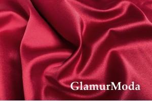 Свадебный сатин с лайкрой (прокатный атлас) цвет сальсы, арт. 17, Турция