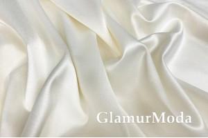 Свадебный сатин с лайкрой (прокатный атлас) цвет сливок, арт. 3, Турция