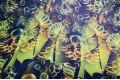 Армани шёлк абстракция изумрудно-желтая