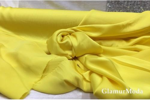 Армани шёлк однотонный жёлтого цвета