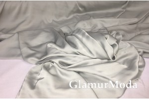 Армани шёлк однотонный светло-серого цвета