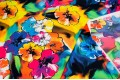 Армани шёлк абстракция разноцветные цветы