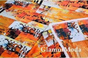 Армани шёлк абстракция оранжевая