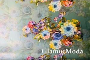 Армани шёлк цветочные узоры