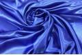 Атлас простой однотонный синего цвета