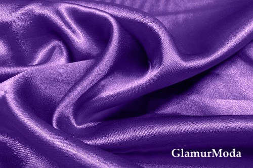 Атлас стрейч фиолетового цвета