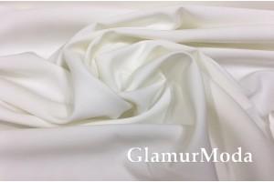 Костюмная ткань Барби нежно-молочного цвета