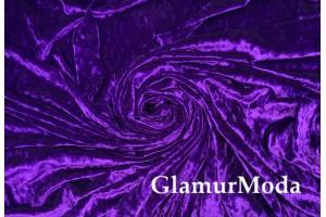 Бархат крэш (мрамор) фиолетовый цвет